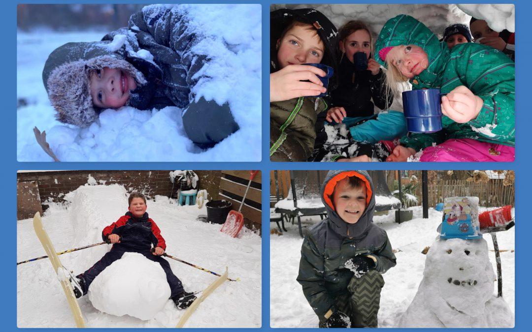 Sneeuwpret met winnaars!